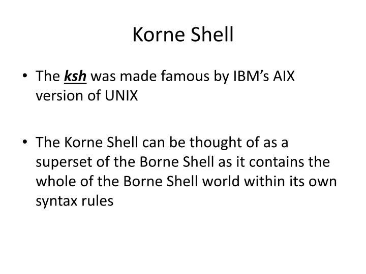 Korne Shell
