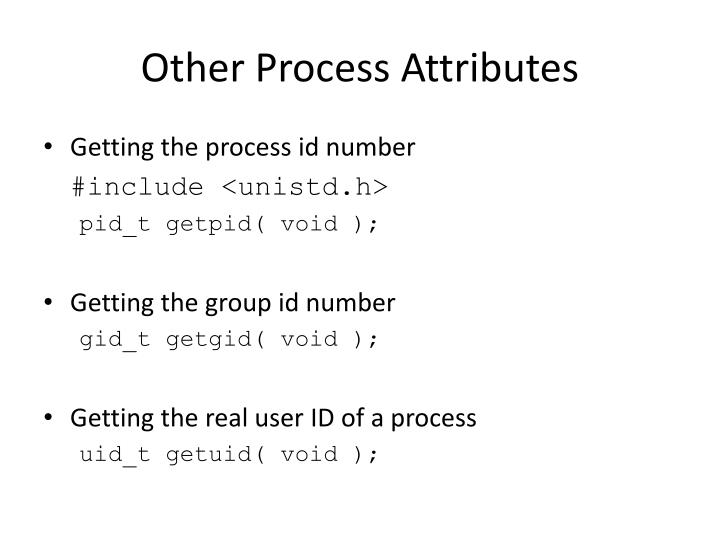 Other Process Attributes