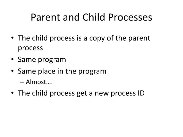 Parent and Child Processes