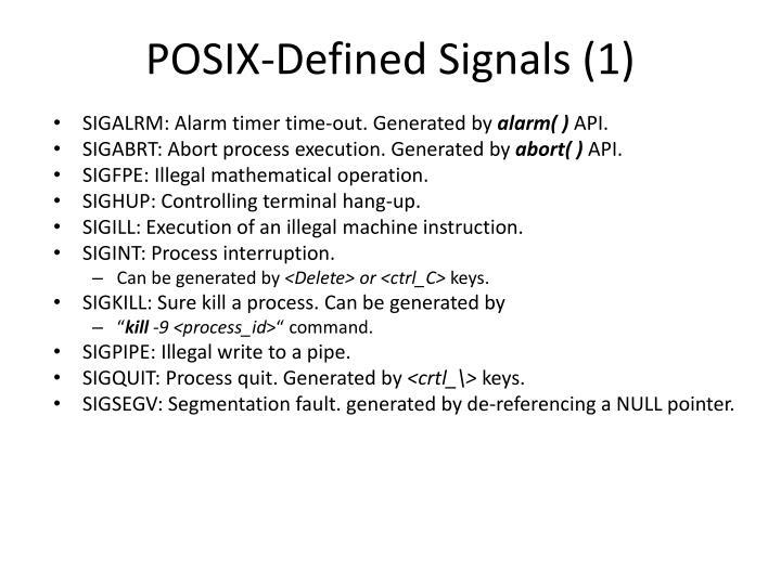 POSIX-Defined Signals (1)
