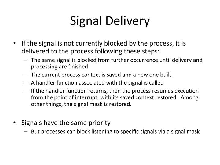 Signal Delivery