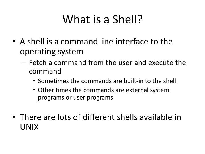 What is a shell