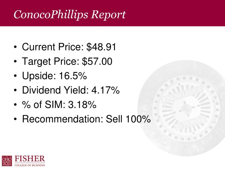 ConocoPhillips Report