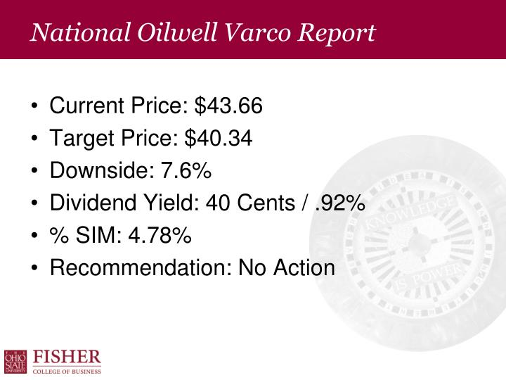 National Oilwell Varco Report
