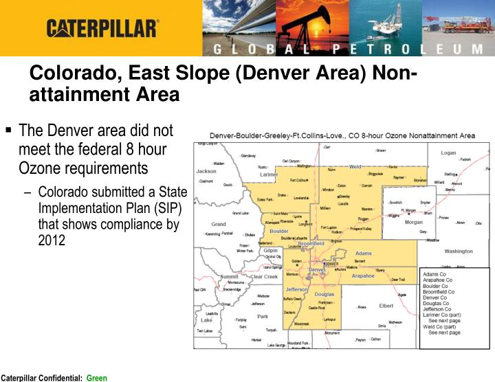 Colorado, East Slope (Denver Area) Non-attainment Area