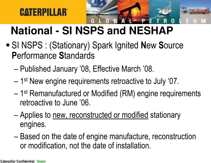 National - SI NSPS and NESHAP