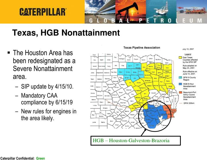 Texas, HGB Nonattainment
