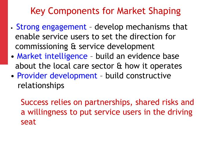 Key Components for Market Shaping