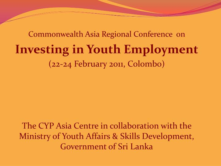 Commonwealth Asia Regional Conference  on
