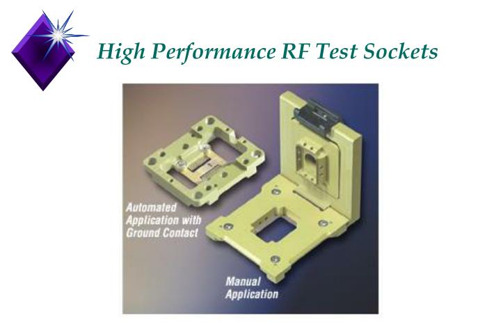 High performance rf test sockets
