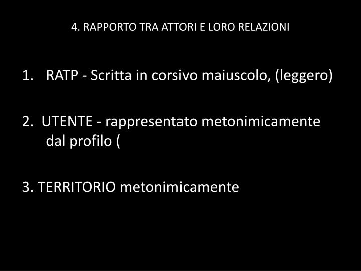 4. RAPPORTO TRA ATTORI