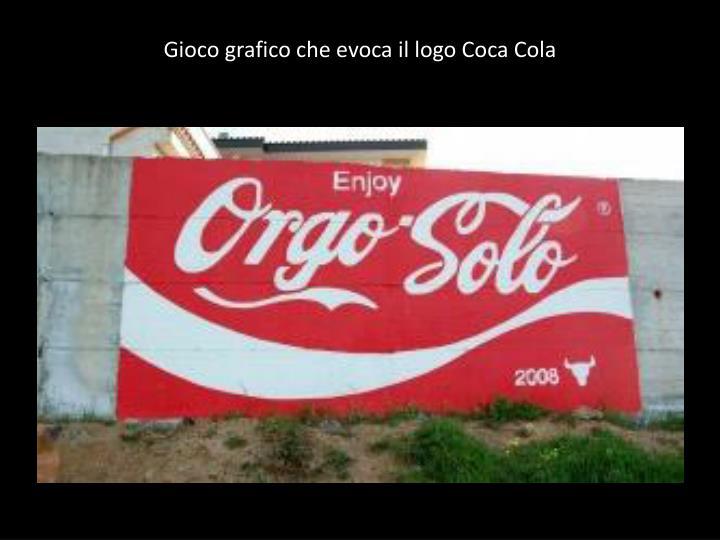 Gioco grafico che evoca il logo Coca Cola