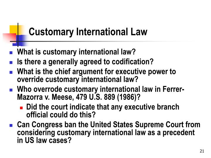 Customary International Law