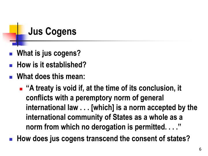 Jus Cogens