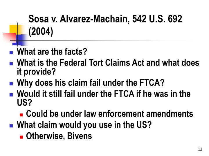 Sosa v. Alvarez-Machain, 542 U.S. 692 (2004)