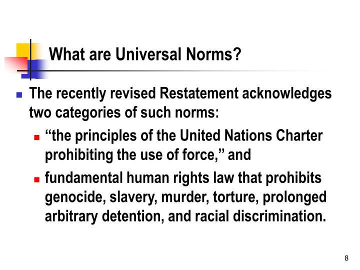 What are Universal Norms?