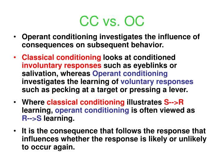 CC vs. OC