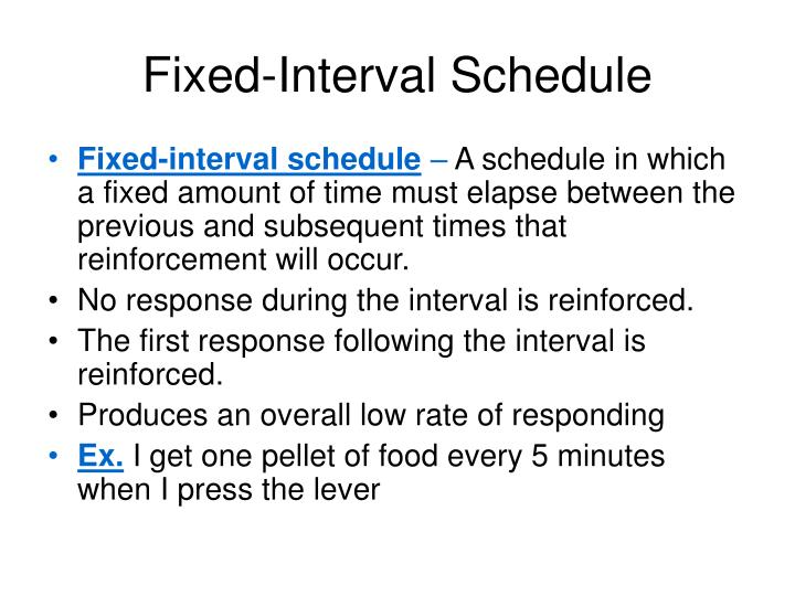 Fixed-Interval Schedule