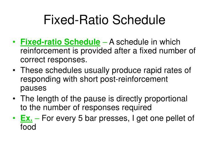 Fixed-Ratio Schedule