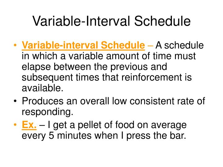 Variable-Interval Schedule