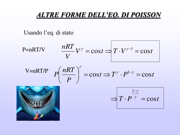 ALTRE FORME DELL'EQ. DI POISSON