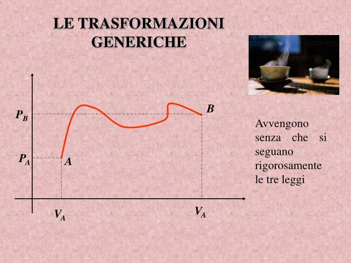 LE TRASFORMAZIONI GENERICHE