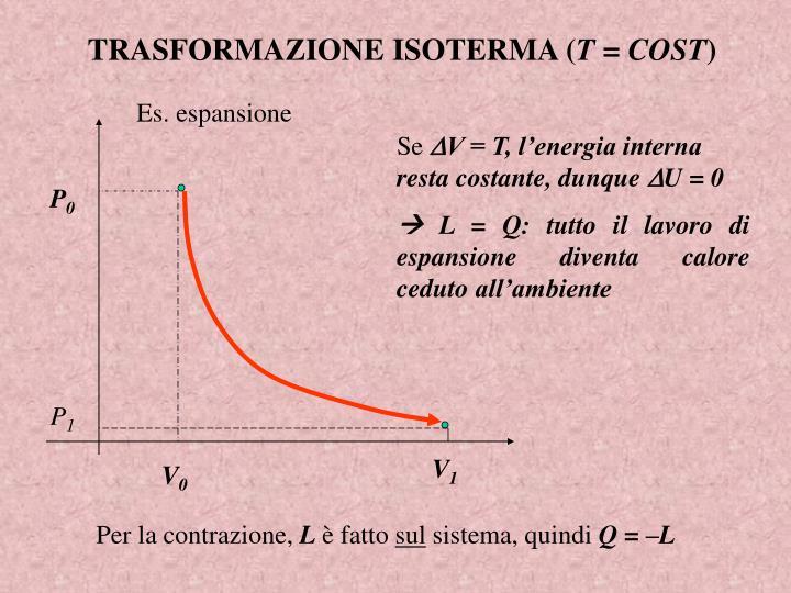 TRASFORMAZIONE ISOTERMA (