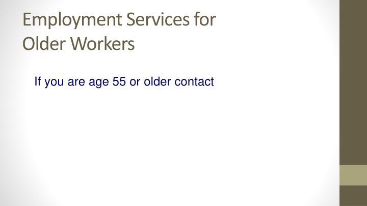 Employment Services for