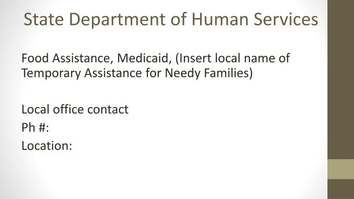 State Department of Human Services