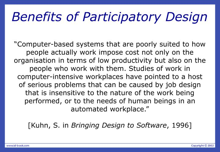 Benefits of Participatory Design