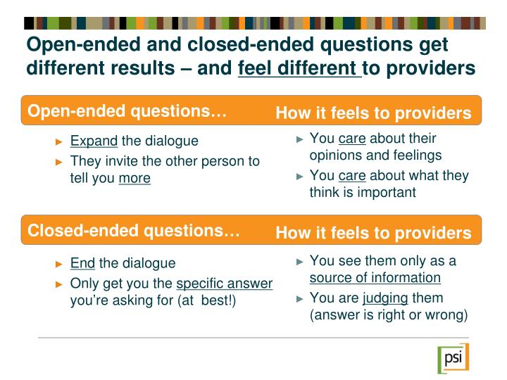Open-ended and closed-ended questions get different results – and