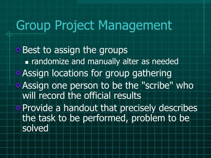 Group Project Management