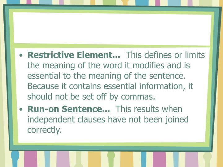 the independent elements of the sentence As i explain in commas with compound sentences, the independent clauses in a compound sentence are usually separated by a comma.