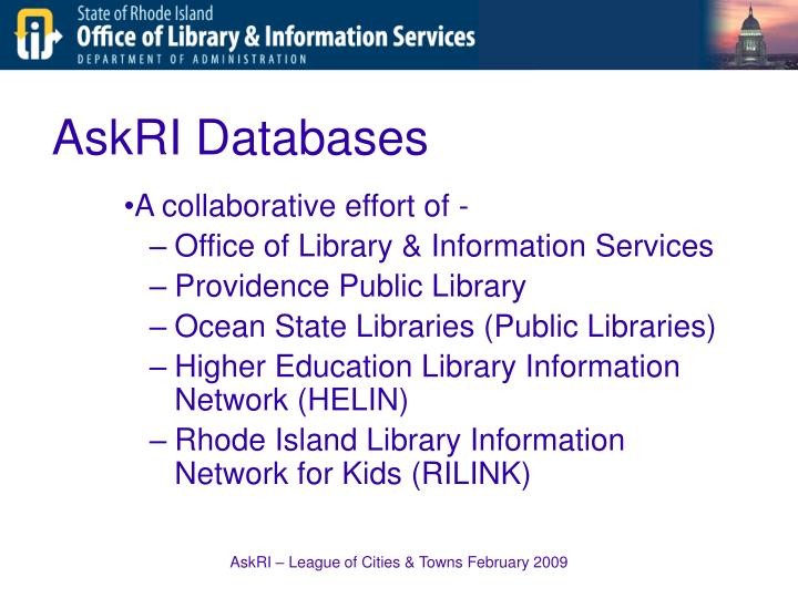 AskRI Databases