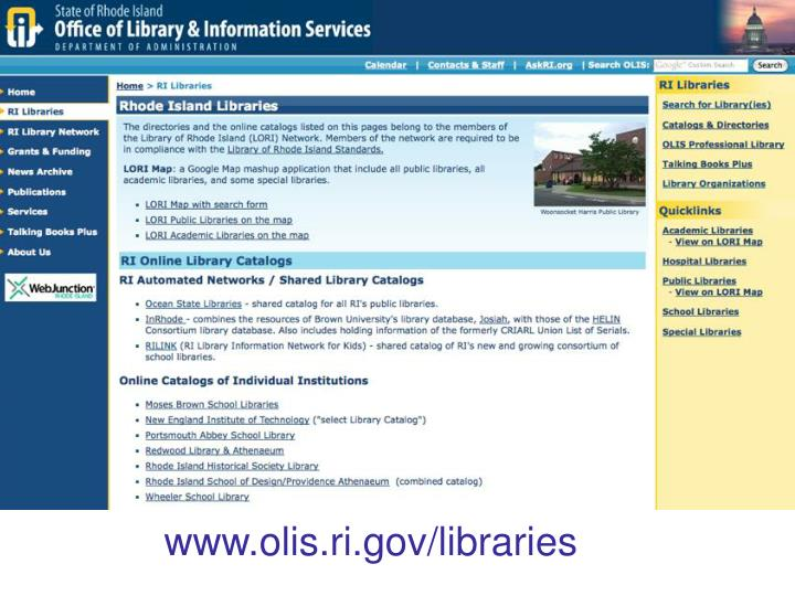 www.olis.ri.gov/libraries
