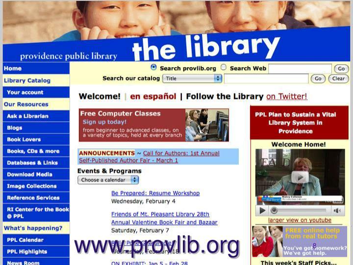 www.provlib.org