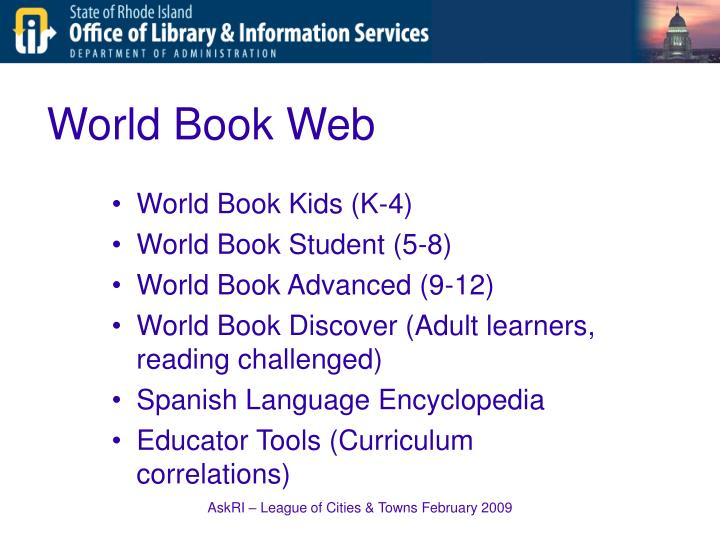 World Book Web
