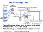 details of page table