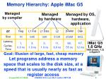 memory hierarchy apple imac g5