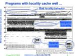 programs with locality cache well