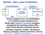 solution add a layer of indirection