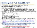summary 3 3 tlb virtual memory