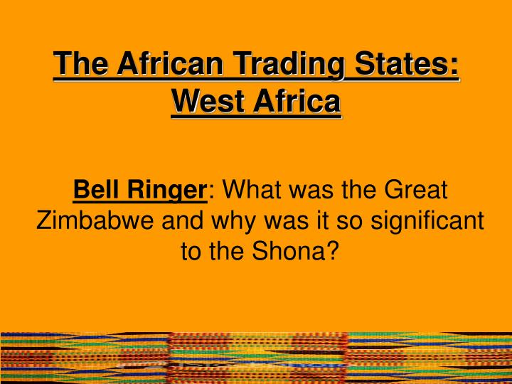 The african trading states west africa