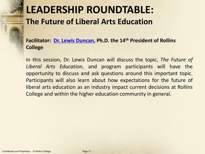 LEADERSHIP ROUNDTABLE: