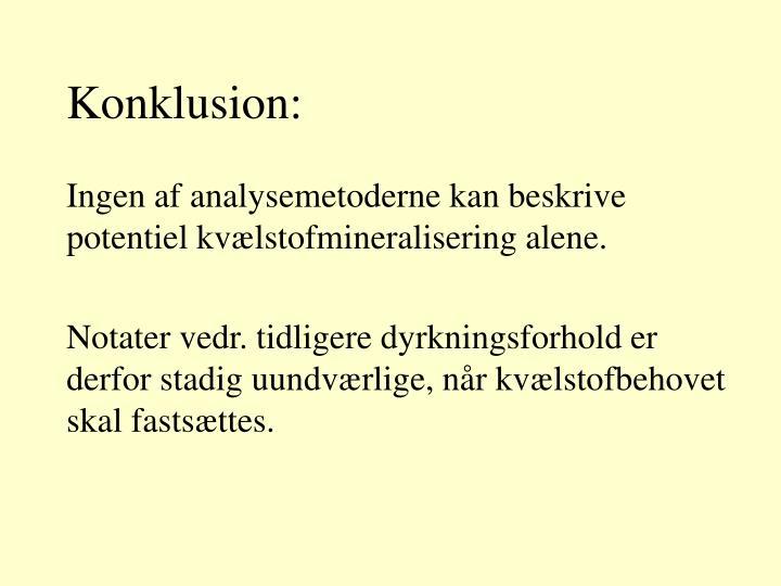 Konklusion: