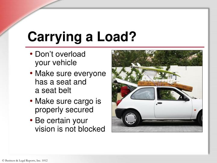 Carrying a Load?