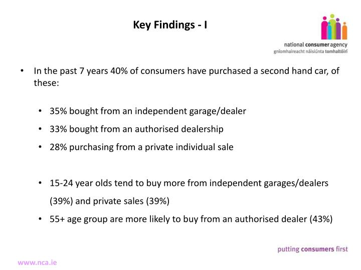 Key Findings - I