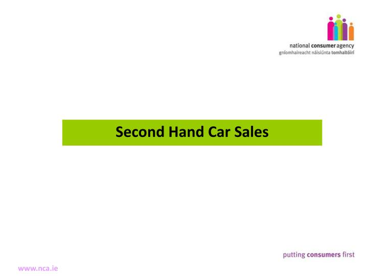 Second Hand Car Sales