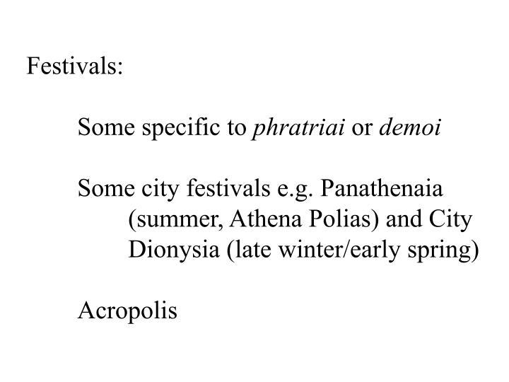 Festivals: