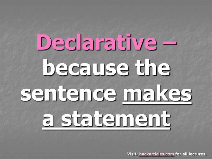 Declarative –